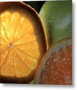 Bright Clementine  Metal Print