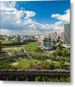 Bright Clouds In Downtown Richmond Va Metal Print