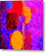 Bright Colours Abstract Metal Print