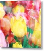 Bright Dreams In The Tulips Metal Print