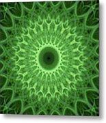 Bright Green Mandala Metal Print