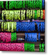 Bright Leather Bracelets Metal Print