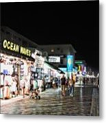 Bright Lights On The Boards Metal Print