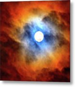 Bright Moon And Dark Clouds Metal Print