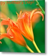Bright Mother's Day Card Metal Print
