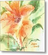 Bright Orange Flower Metal Print