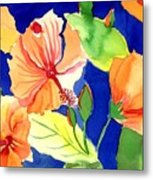 Bright Orange Flowers Metal Print