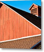 Bright Red Barn Metal Print