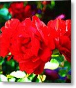 Bright Red Rose Metal Print