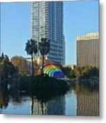 Bright Spot In Downtown Orlando Metal Print