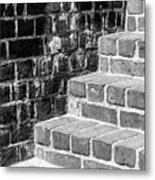 Bright Steps Dark Wall Metal Print