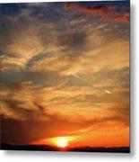 Bright Sundown In Mountains Metal Print
