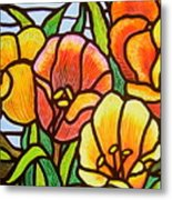 Bright Tulips Metal Print