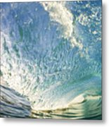 Bright Wave - Makena Metal Print