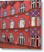 Brightly Colored Cooperative Business Bank Building Or Vurnik Ho Metal Print