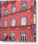 Brightly Colored Facade Of Cooperative Business Bank Building Or Metal Print