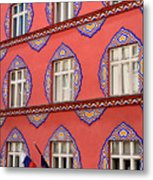 Brightly Colored Facade Vurnik House Or Cooperative Business Ban Metal Print