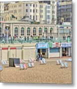 Brighton Seaside  Metal Print