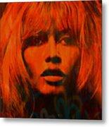 Brigitte Bardot Love Pop Art Metal Print