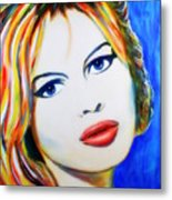 Brigitte Bardot Pop Art Portrait Metal Print