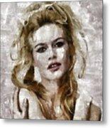 Brigitte Bardot, Vintage Actress Metal Print