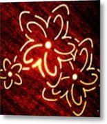 Brilliant Floral Abstract Metal Print