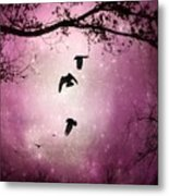 Brilliant Pink Surreal Sky Metal Print