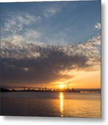 Brilliant Toronto Skyline Sunrise Over Lake Ontario Metal Print