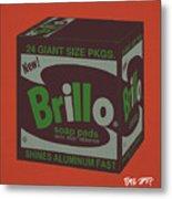 Brillo Box Colored 1 - Warhol Inspired Metal Print