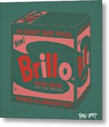 Brillo Box Colored 10 - Warhol Inspired Metal Print
