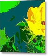 Brimstone Yellow Metal Print