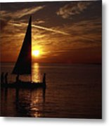 Bringing The Boat Home Metal Print