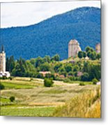 Brinje Village In Nature Of Lika Metal Print