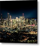 Brisbane Cityscape From Mount Cootha #7 Metal Print