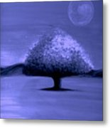 Brisk Silver Moon Metal Print