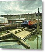 Bristol Barge Dry Dock  Metal Print
