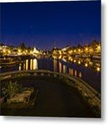 Bristol Docks By Night  Metal Print