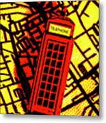 Brit Phone Box Metal Print