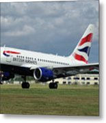 British Airways A318-112 G-eunb Metal Print