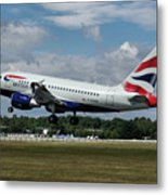 British Airways Airbus A318-112 G-eunb Metal Print