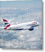 British Airways Airbus A380-841 Metal Print