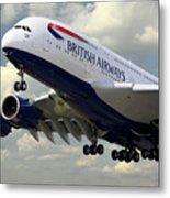 British Airways Airbus A380 Metal Print
