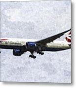 British Airways Boeing 777 Art Metal Print