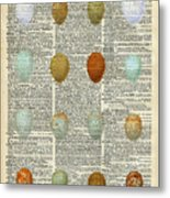 British Birds Eggs Metal Print