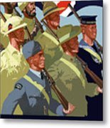 British Empire Soldiers Together Metal Print