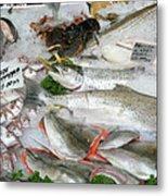 British Fish Market Metal Print