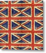 British Flag Collage One Metal Print