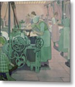 British Industries - Cotton Metal Print by Frederick Cayley Robinson