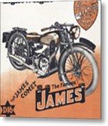 British James Comet Motorcycle  1948 Metal Print