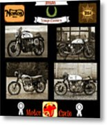 British Motorcycle - Vintage Metal Print